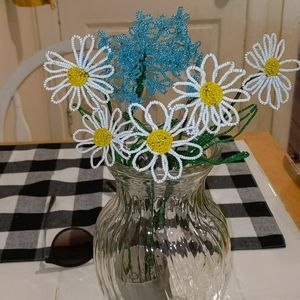 Daisies Handmade Wire and Bead Flowers